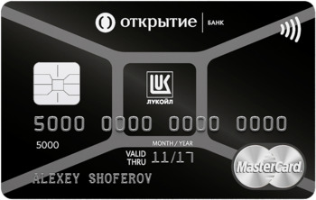 Карта банка Открытие Лукойл